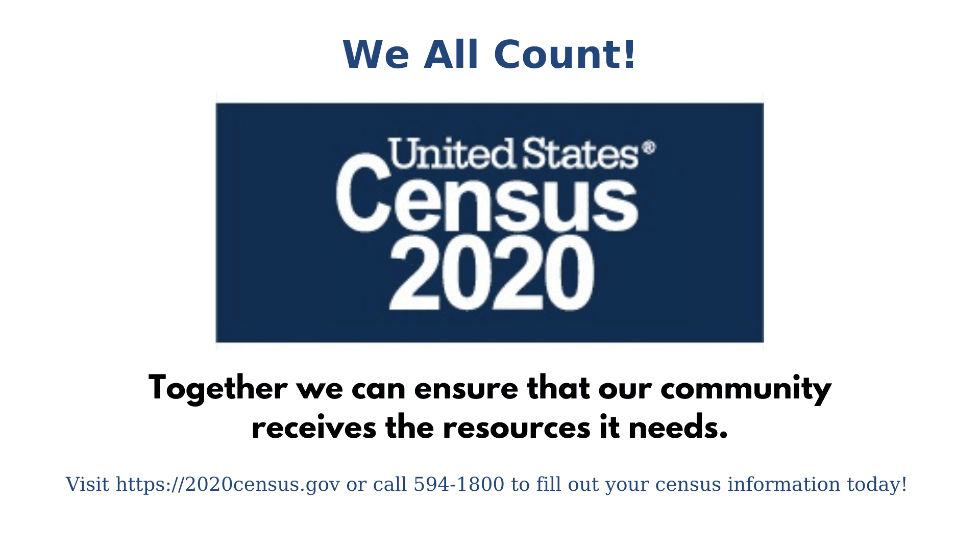 U.S. Census https://2020census.gov