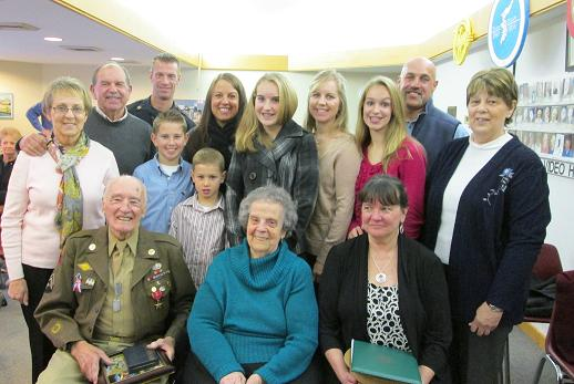 Family of Harvey Lafleur at ceremony