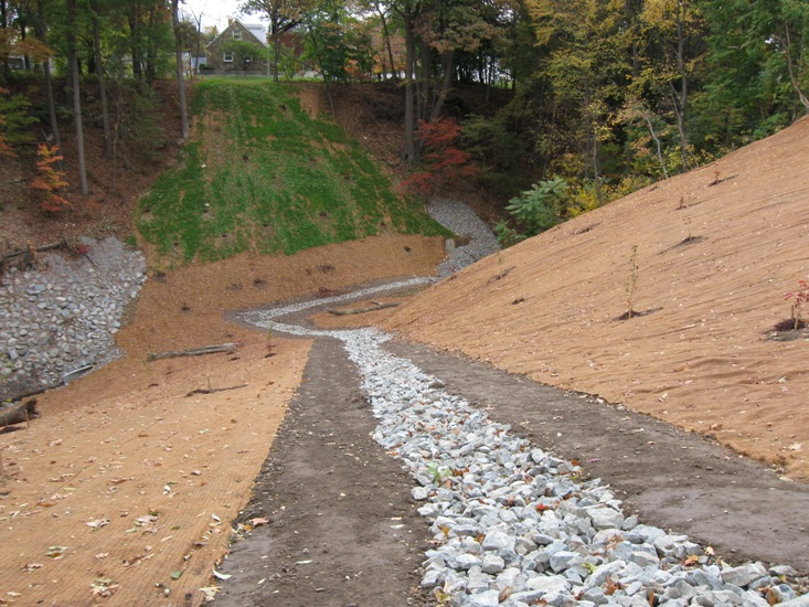 This portion of the Slope Stabilization Project cost $55,000.