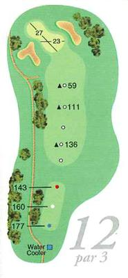 Map of Hole 12
