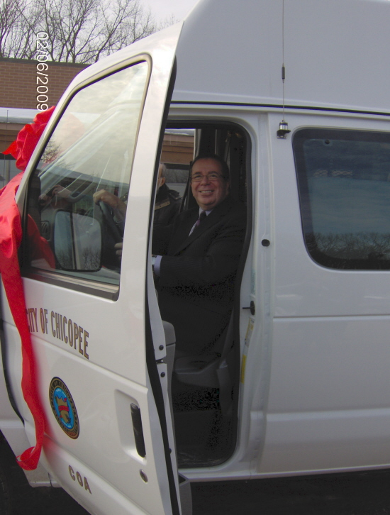 Mayor driving new Council on Aging wheelchair van