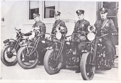 Motorcycle Officers, July 1, 1921