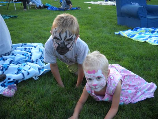 Zebra and Kitty Face Paint